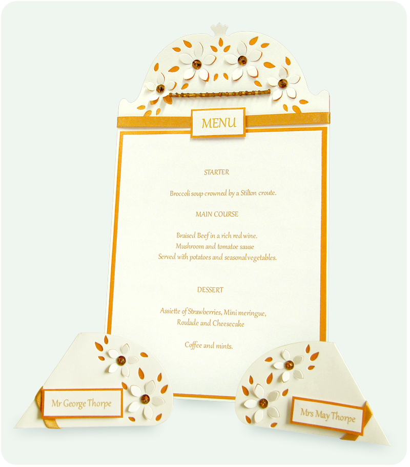create your own menu name cards katy sue designs
