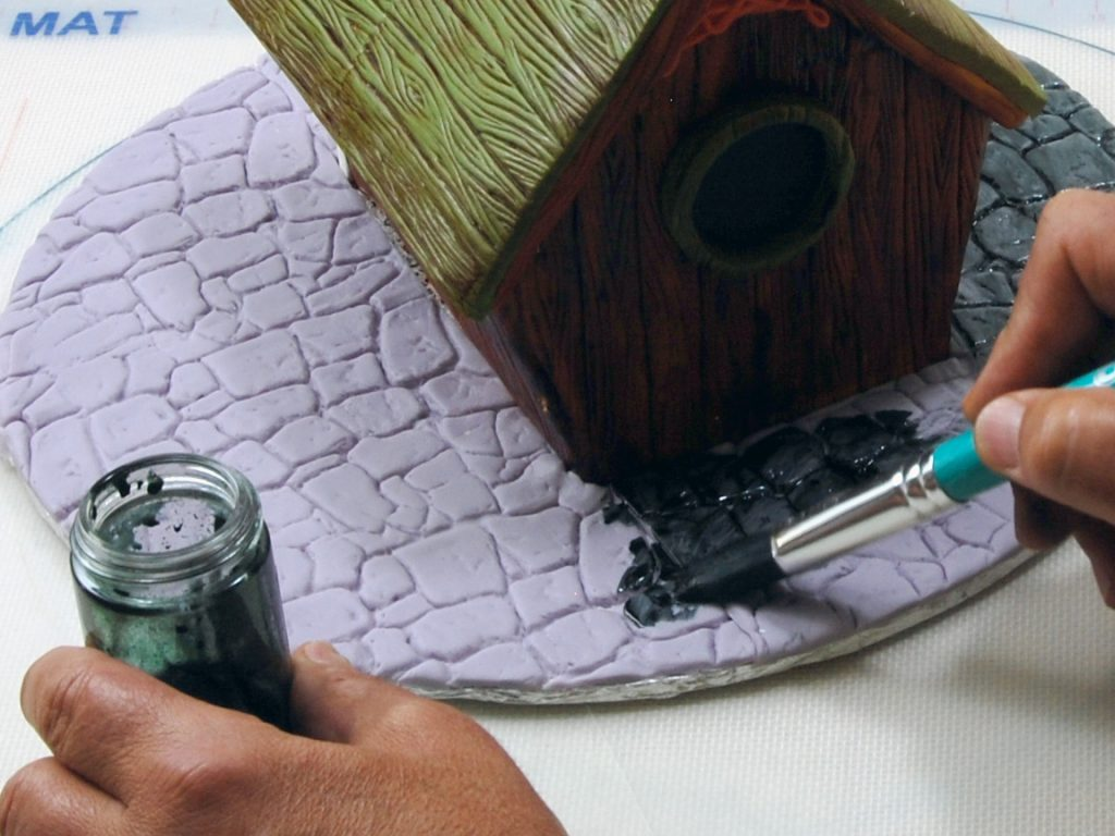 Making A Stone Cake Out Of Gumpaste