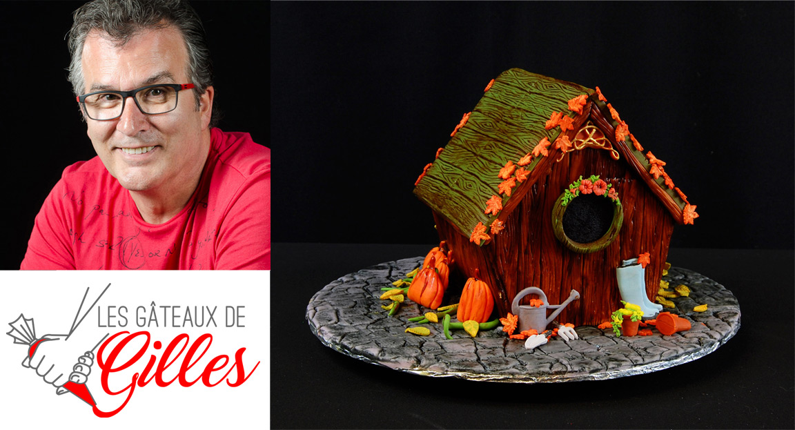 Autumn Birdhouse Cake Tutorial by Gilles Leblanc