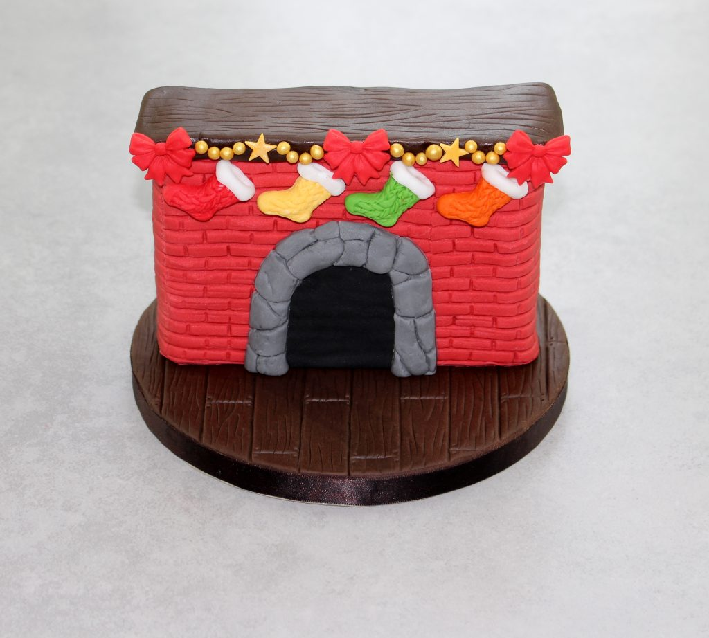 When santa got stuck up the chimney cake katy sue designs Santa stuck in chimney cake