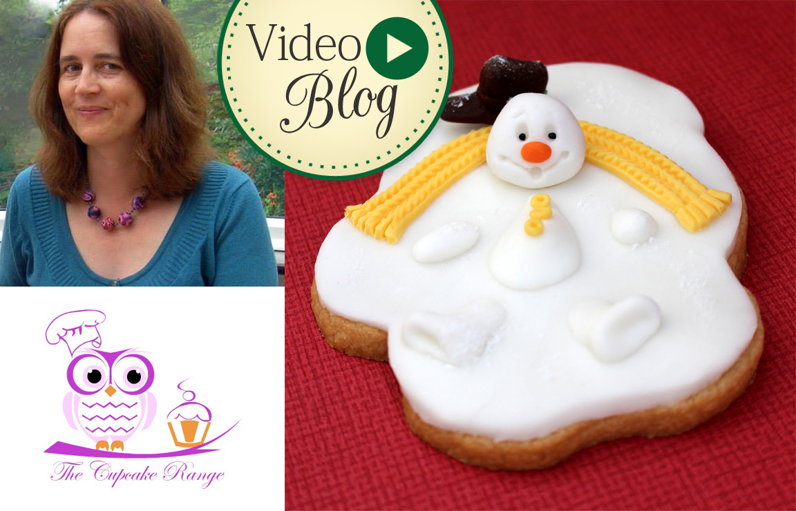 Melting Snowmen Cookies Tutorial Video by Sarah Harris