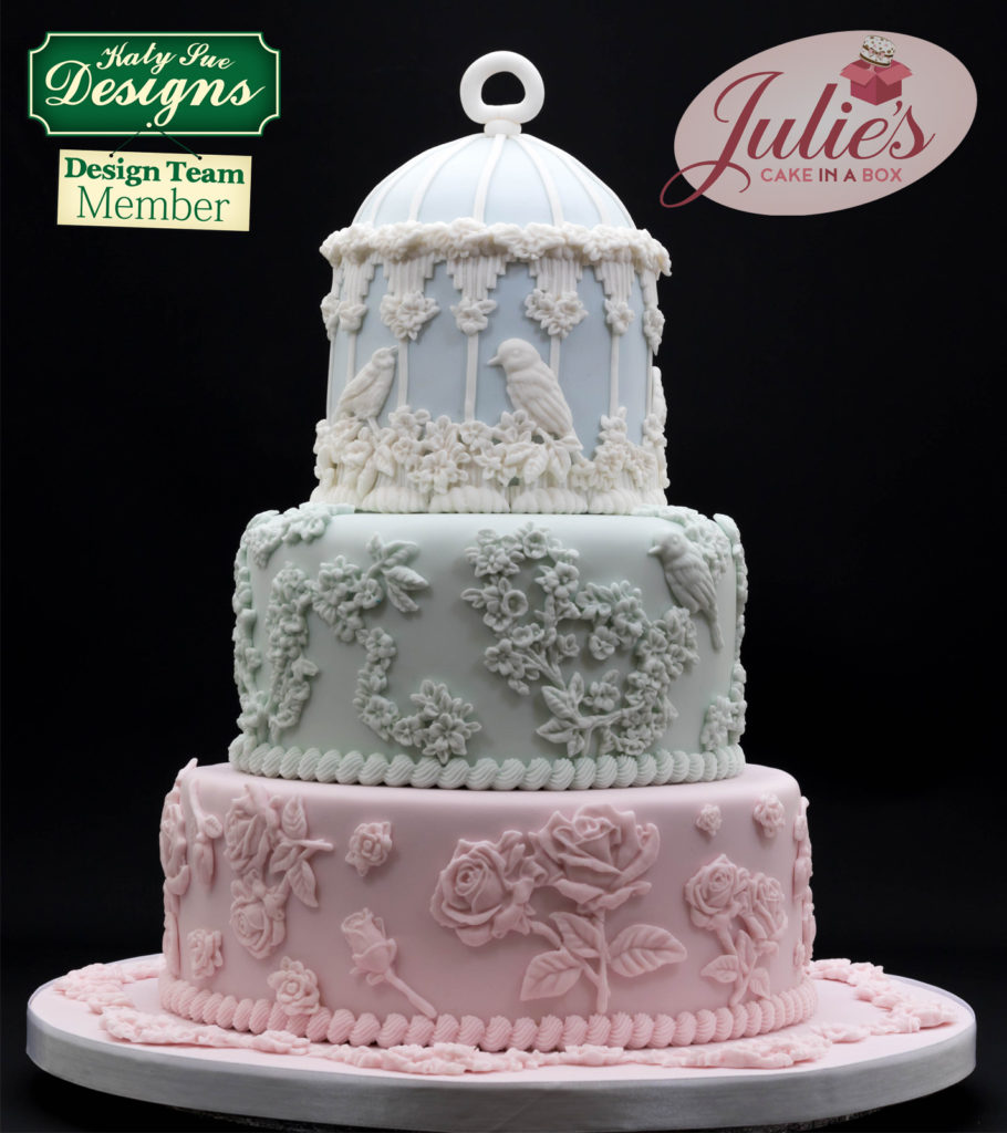 Julies-Cake-in-a-Box_Birds-and-Flowers-Bas-Relief-finished-cake