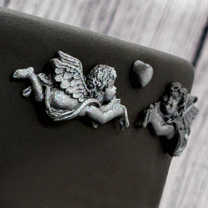 Black-and-Silver-Bas-Relief-Cake-Step-4