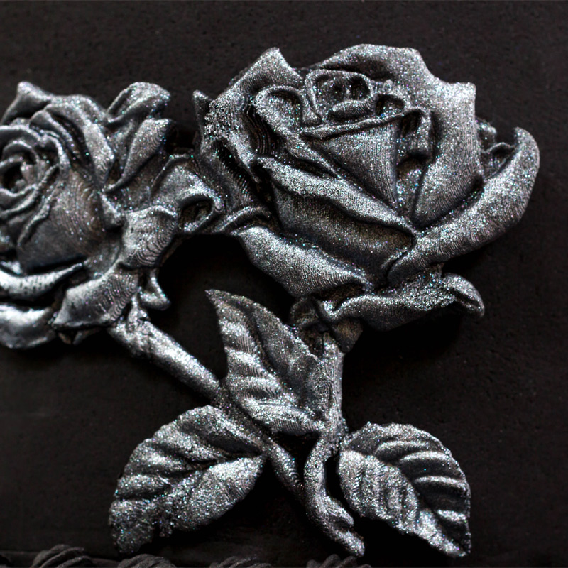 Black-and-Silver-Bas-Relief-Cake-Step-5_Rose-Stems